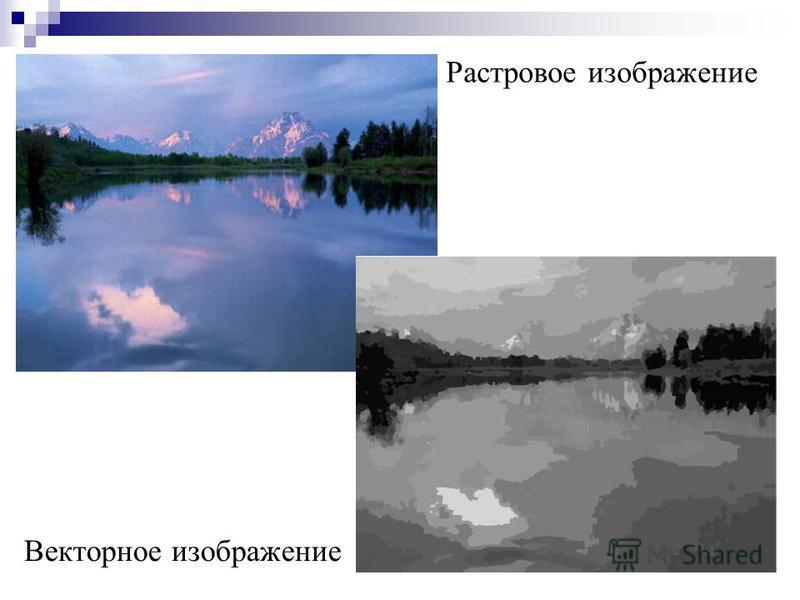 Растровое изображение Векторное изображение