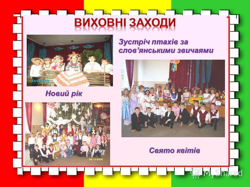 Зустріч птахів за словянськими звичаями Свято квітів Новий рік