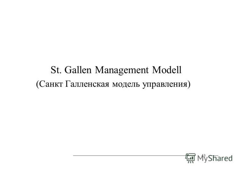 St. Gallen Management Modell (Санкт Галленская модель управления) 43
