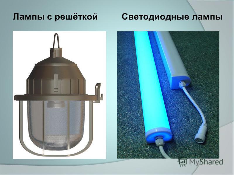 Лампы с решёткой Светодиодные лампы