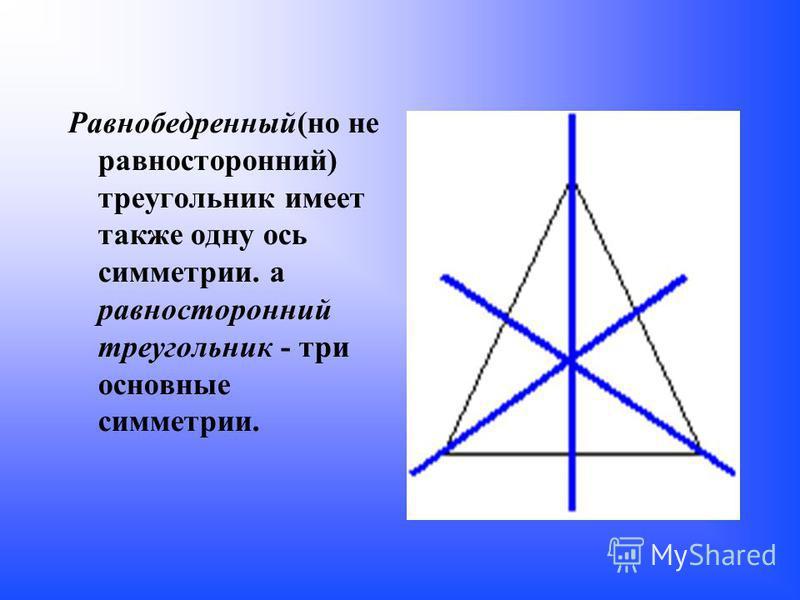 П римеры геометрических фигур, обладающие осевой симметрией У неразвёрнутого угла одна ось симметрии - прямая, на которой расположена биссектриса угла.