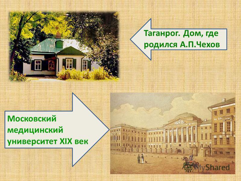 Таганрог. Дом, где родился А.П.Чехов Московский медицинский университет XIX век