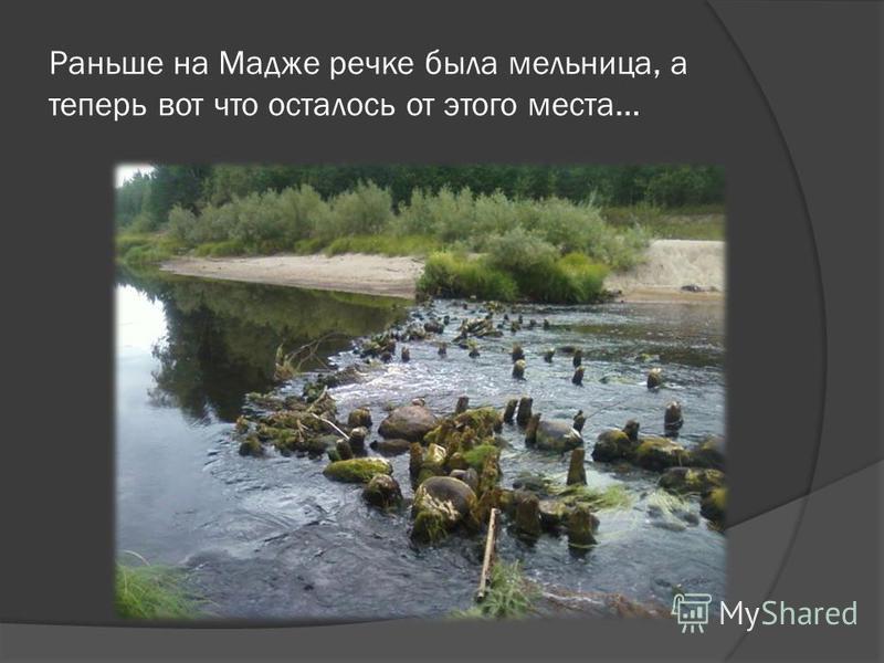 Раньше на Мадже речке была мельница, а теперь вот что осталось от этого места…