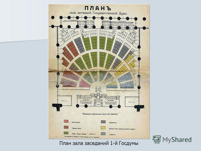 План зала заседаний 1-й Госдумы