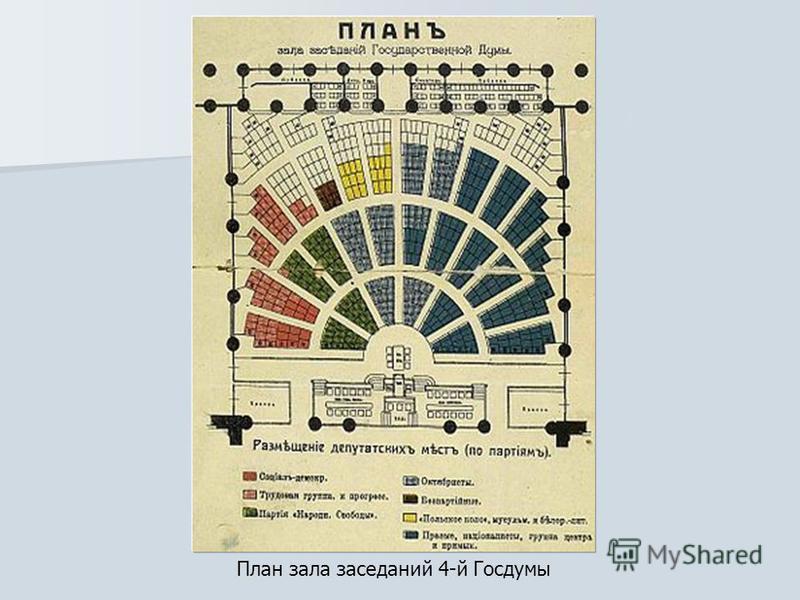 План зала заседаний 4-й Госдумы