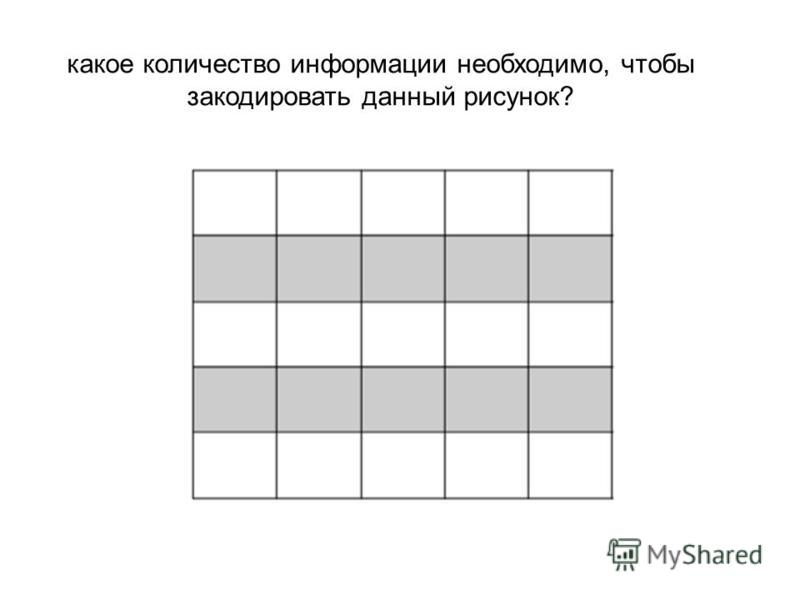 какое количество информации необходимо, чтобы закодировать данный рисунок?