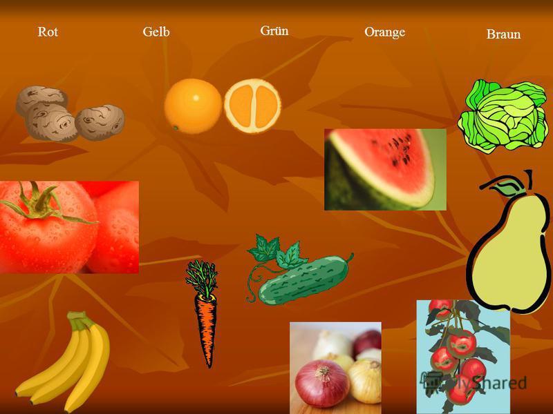 RotGelb Grün Orange Braun