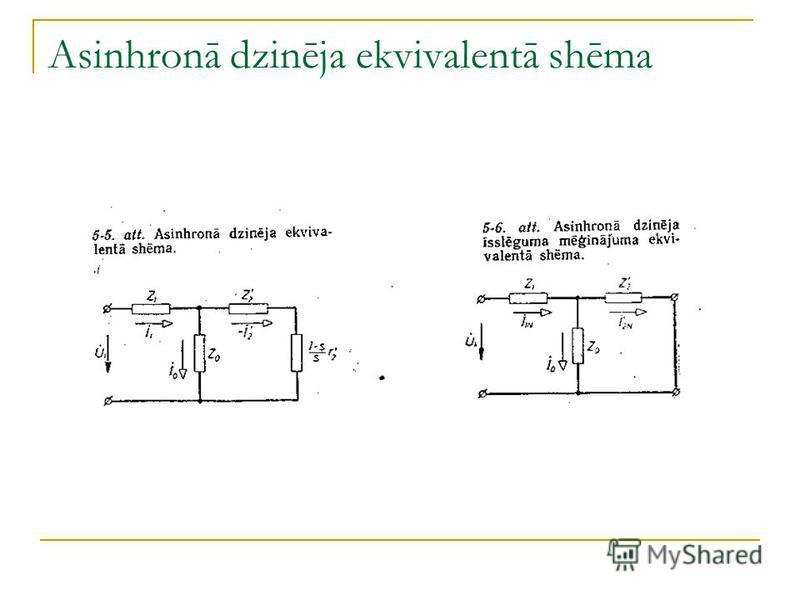 Asinhronā dzinēja ekvivalentā shēma