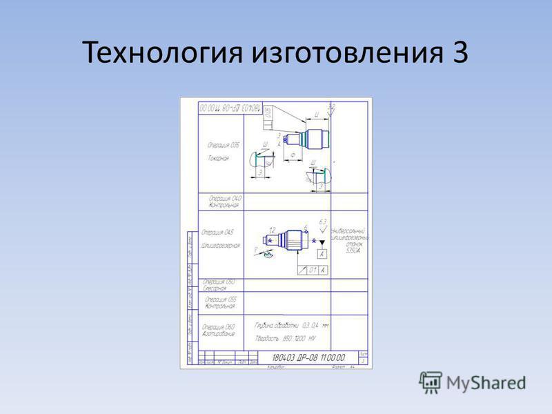 Технология изготовления 3