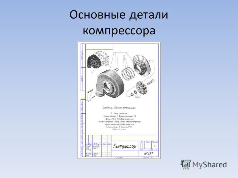 Основные детали компрессора