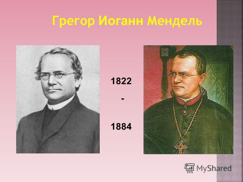 Грегор Иоганн Мендель 1822 - 1884
