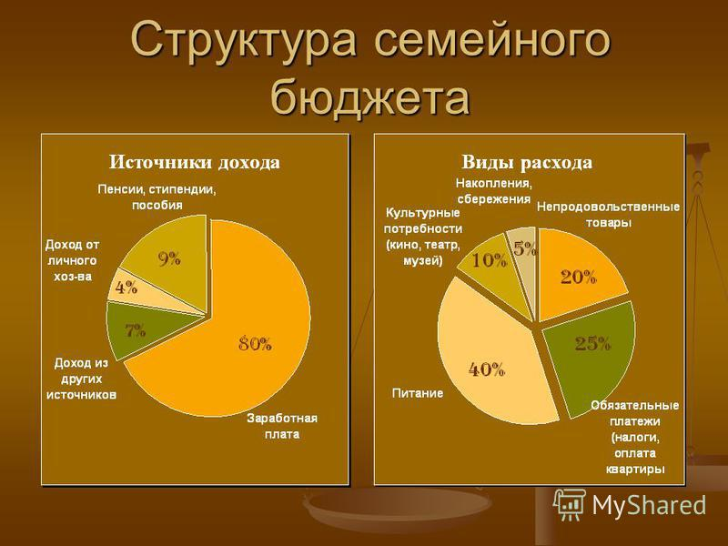Структура семейного бюджета