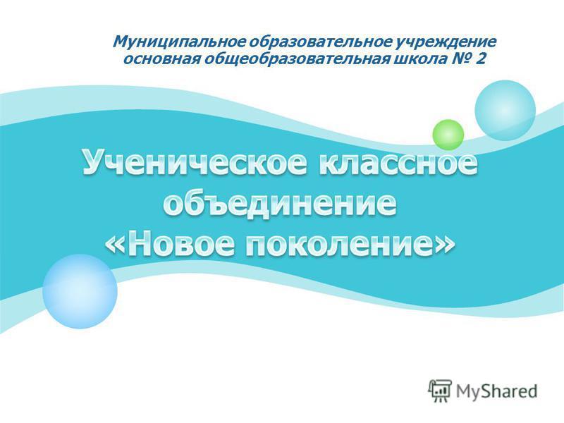 Муниципальное образовательное учреждение основная общеобразовательная школа 2
