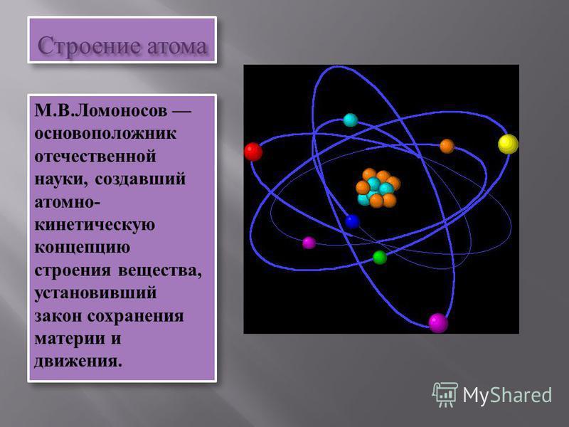 Теоретическая химия строение атома