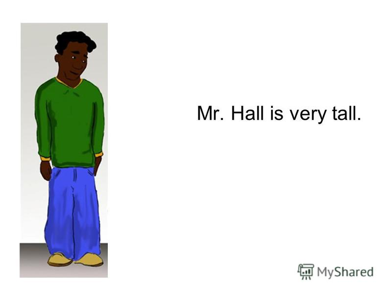 Mr. Hall is very tall.