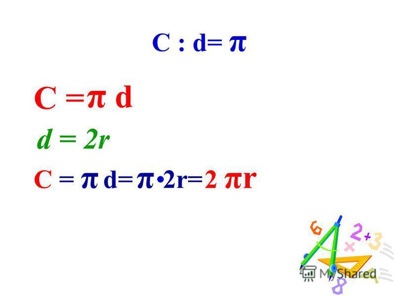 π 3,141592653589793238462643…(24 знака) Данное обозначение стало общепринятым в 1736 году после одной из работ Эйлера, великого математика, физика, астронома.