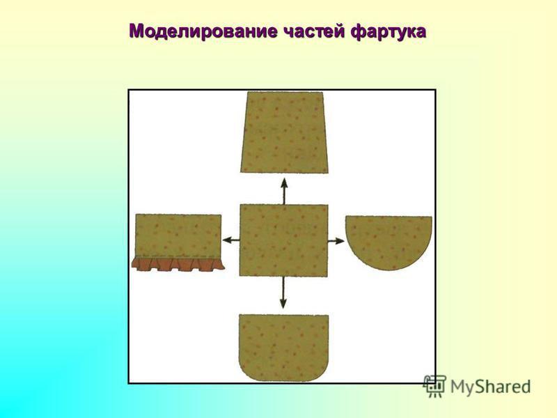 Моделирование частей фартука