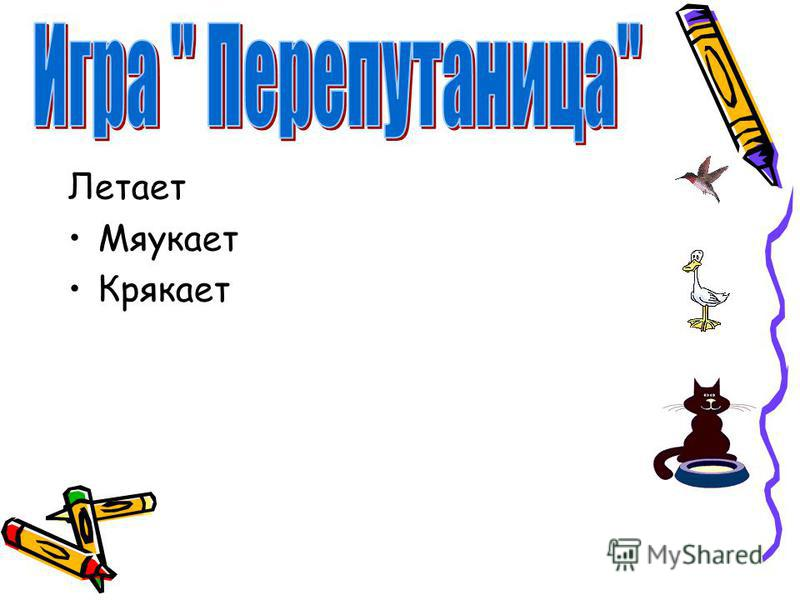 Летает Мяукает Крякает