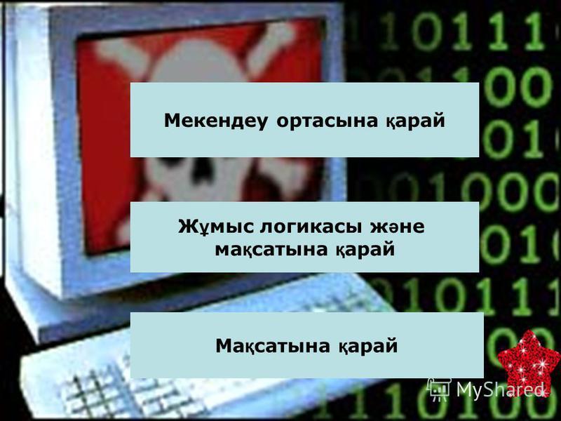 Сабағымызды бастамас бұрын компьютерлік вирустардың анықтамасына тоқталайық. Компьютерлік вирус – арнайы жазылған шағын көлемді программа.Ол өздігінен басқа программалар соңына немесе алдына қосымша жазылады да, оларды бүлдіруге кіріседі, сондай-ақ к
