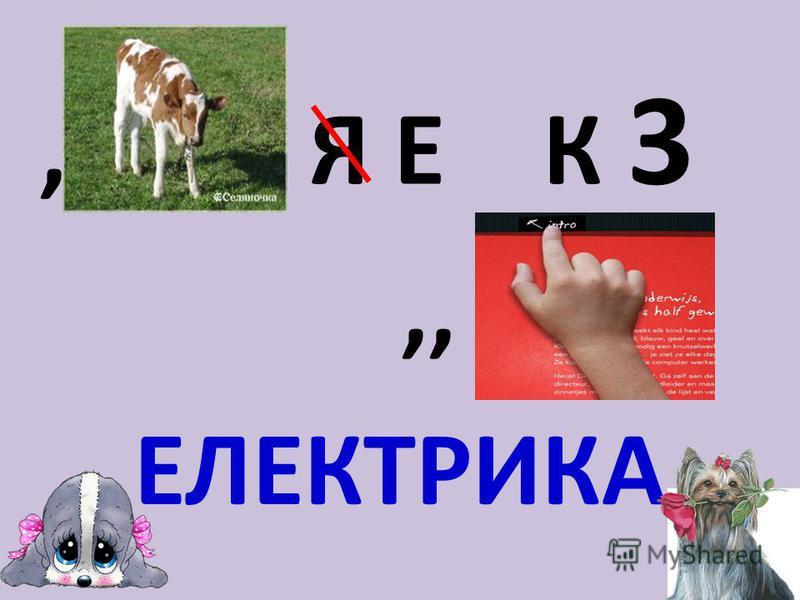 , Я Е К 3,, ЕЛЕКТРИКА