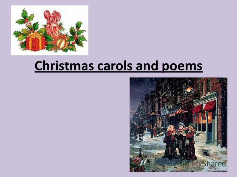 Christmas carols and poems