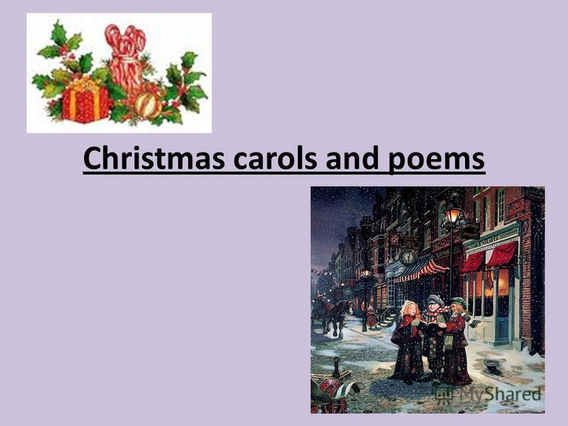Christmas carols and poems
