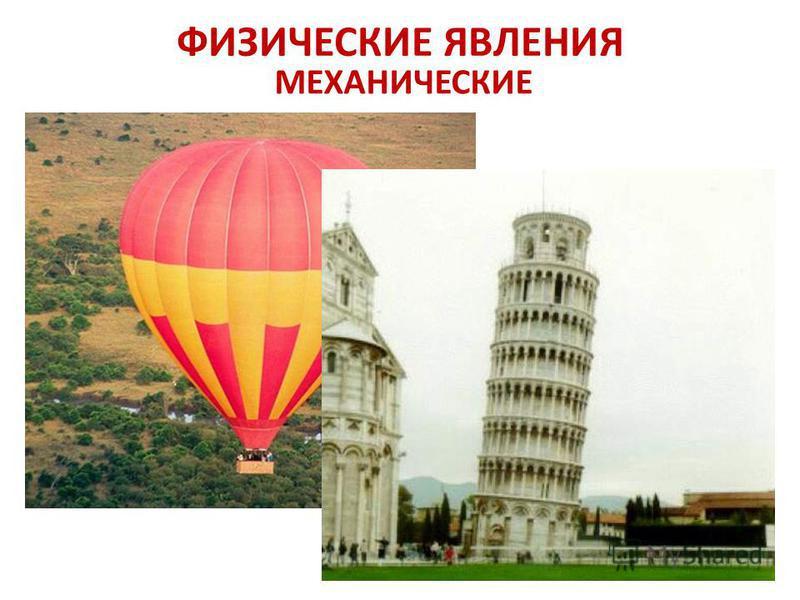 ФИЗИЧЕСКИЕ ЯВЛЕНИЯ МЕХАНИЧЕСКИЕ