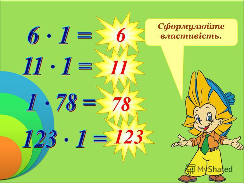 6 11 78 123 Сформулюйте властивість.