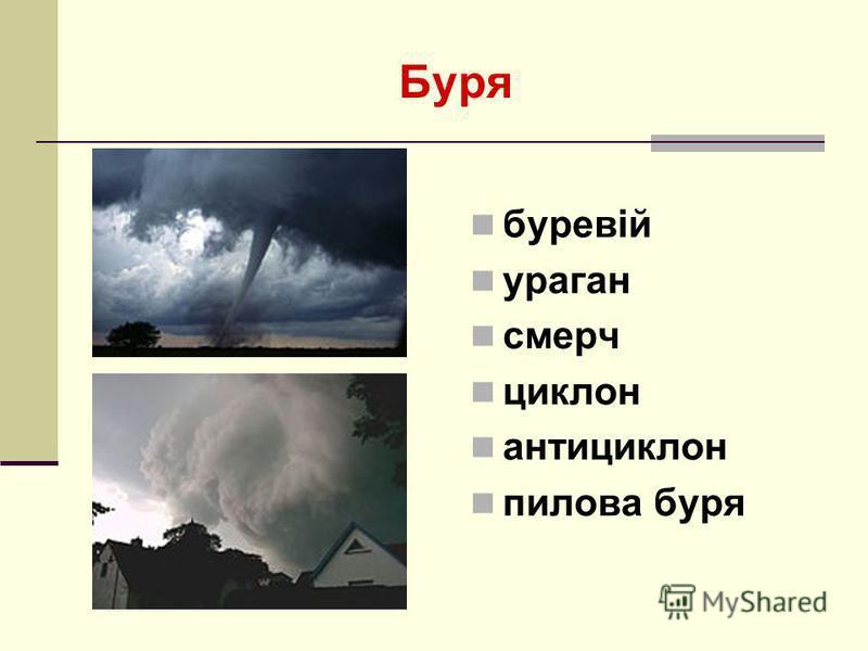 Буря буревій ураган смерч циклон антициклон пилова буря