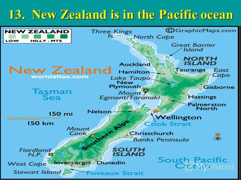 13. New Zealand is in the Pacific ocean