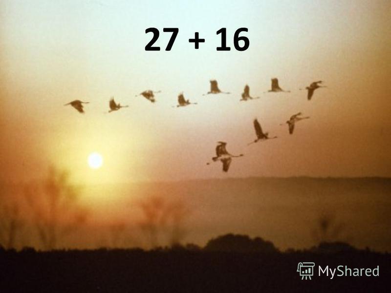 27 + 16
