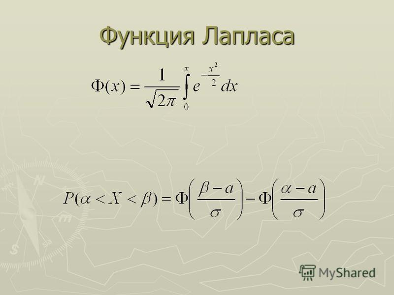 Функция Лапласа