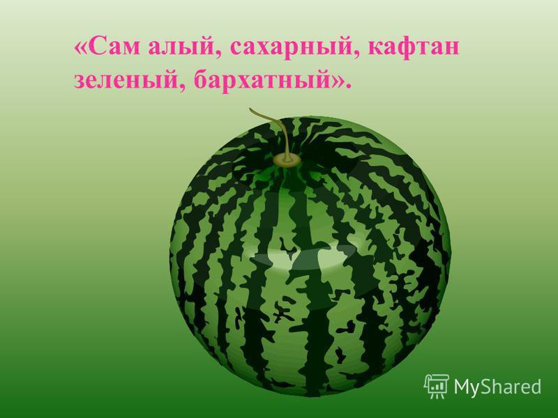 «Сам алый, сахарный, кафтан зеленый, бархатный».