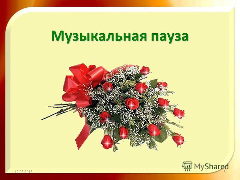 Музыкальная пауза 12.08.20155