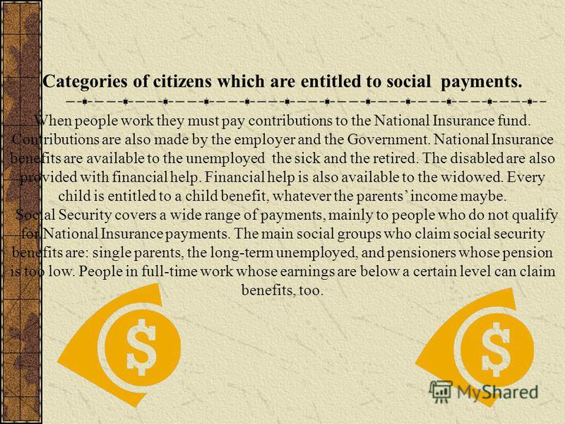 WELFARE state Social NEWS THE BEST AND MOST UP TO DATE COVERAGE Tuesday October, 28. 2008 What is the Welfare State? What categories of citizens are entitled to social payments? What benefits are the citizens of Russia entitled to? Advantages and dis