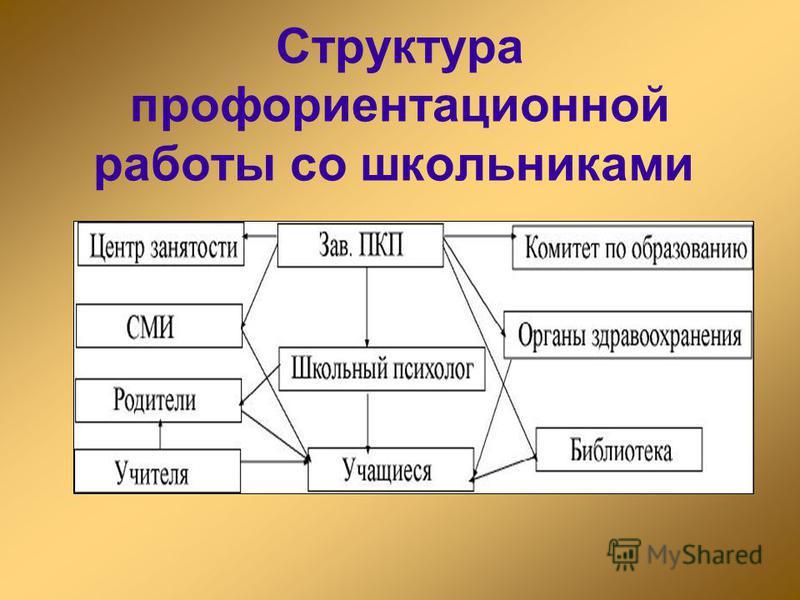 Структура профориентационной работы со школьниками