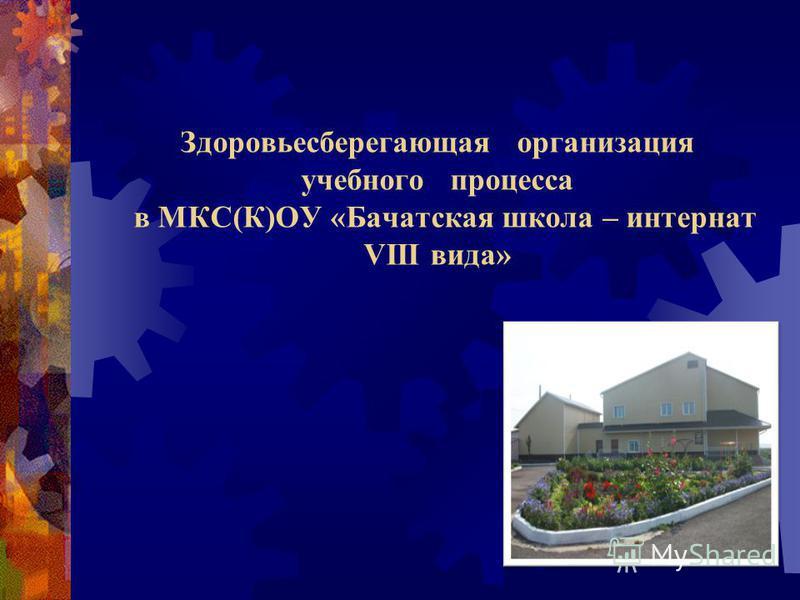 Здоровьесберегающая организация учебного процесса в МКС(К)ОУ «Бачатская школа – интернат VIII вида»
