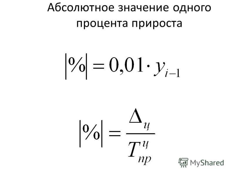 Абсолютное значение одного процента прироста