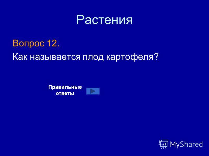Растения Вопрос 12. Как называется плод картофеля? Правильные ответы