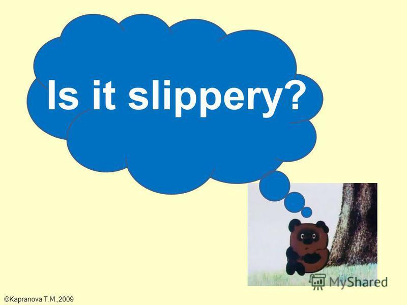 Is it slippery? ©Kapranova T.M.,2009