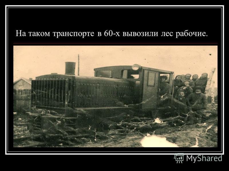 На таком транспорте в 60-х вывозили лес рабочие.
