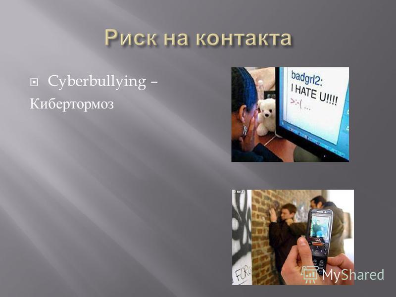 Cyberbullying – Кибертормоз