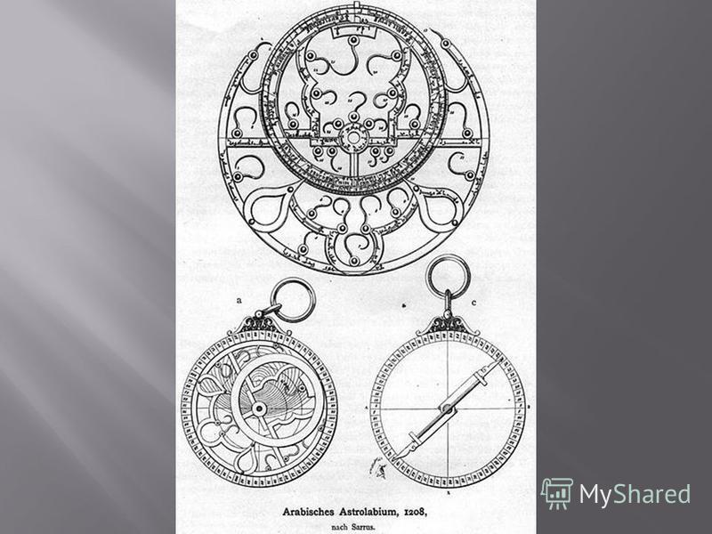 Астролябия один из старейших астрономических инструментов, появившийся в Древней Греции. Древнегреческий астроном Гиппарх по-видимому, создал прообраз астролябии, а Клавдий Птолемей (II век) построил и описал астролабон угломерный инструмент для опре