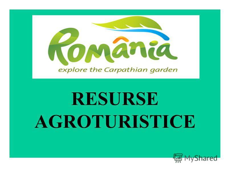 RESURSE AGROTURISTICE