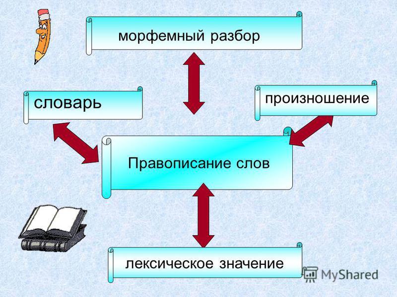 Правописание слов морфемный разбор произношение словарь лексическое значение