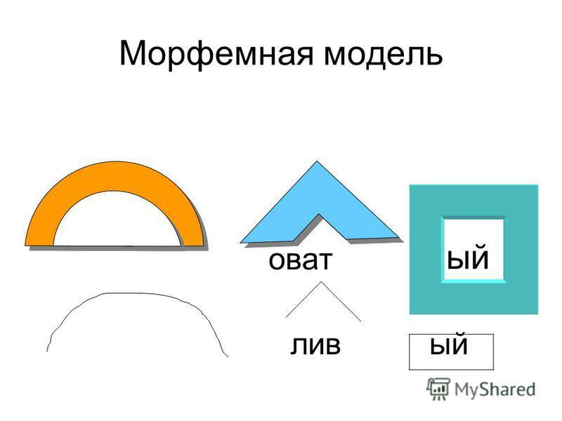 Морфемная модель уват ый лив ый