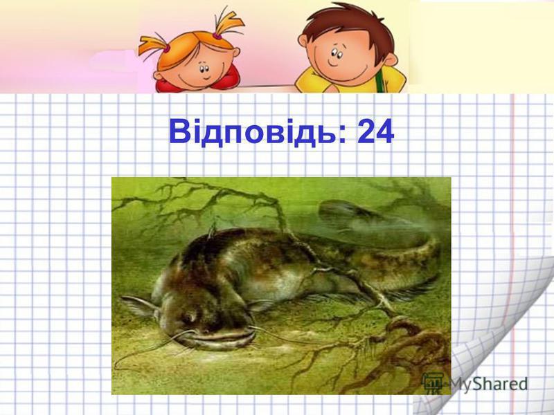 Яка риба без луски? 30 + 40 + 30 – 50 + 10 – 40 + 4 = 100 Щука 24 Сом 84 Окунь