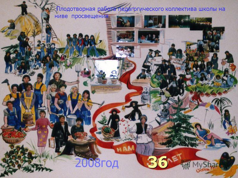 36 Плодотворная работа педагогического коллектива школы на ниве просвещения 2008 год