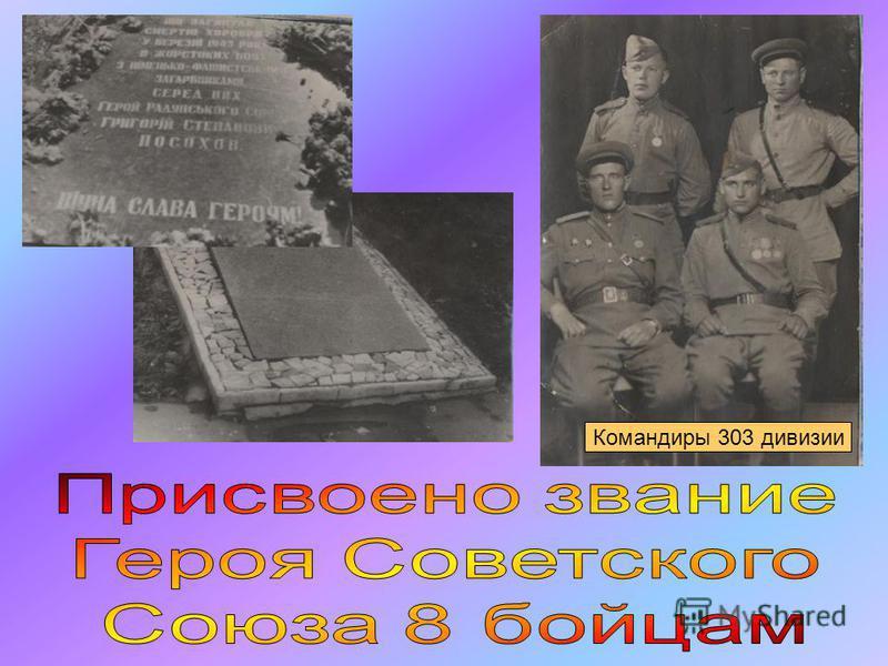 Командиры 303 дивизии