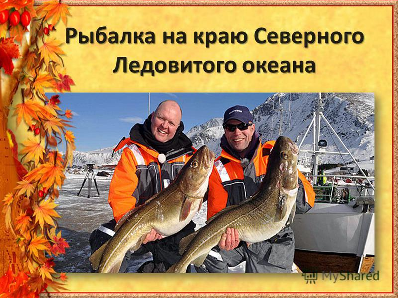 Рыбалка на краю Северного Ледовитого океана